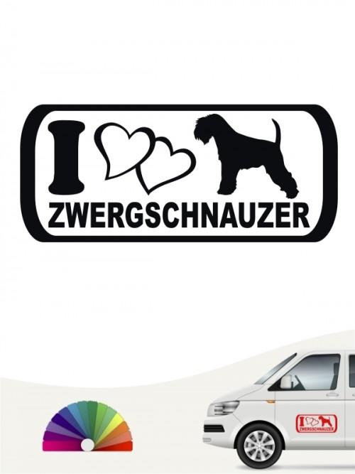 I Love Zwergschnauzer Sticker anfalas.de
