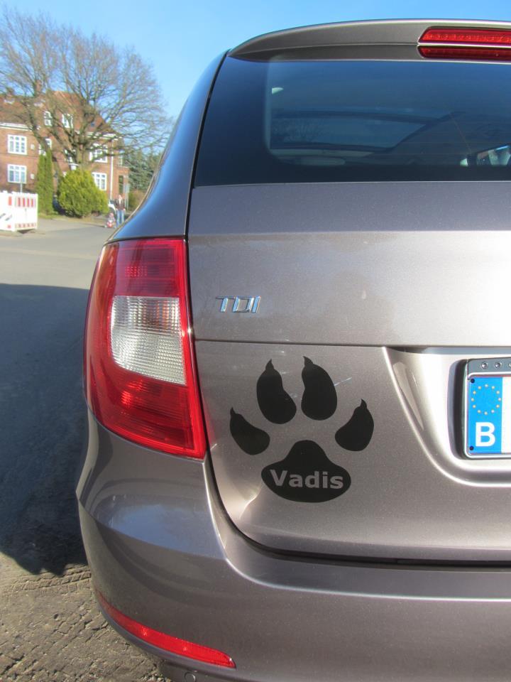 Hundepfote Autoaufkleber Anfalas.de