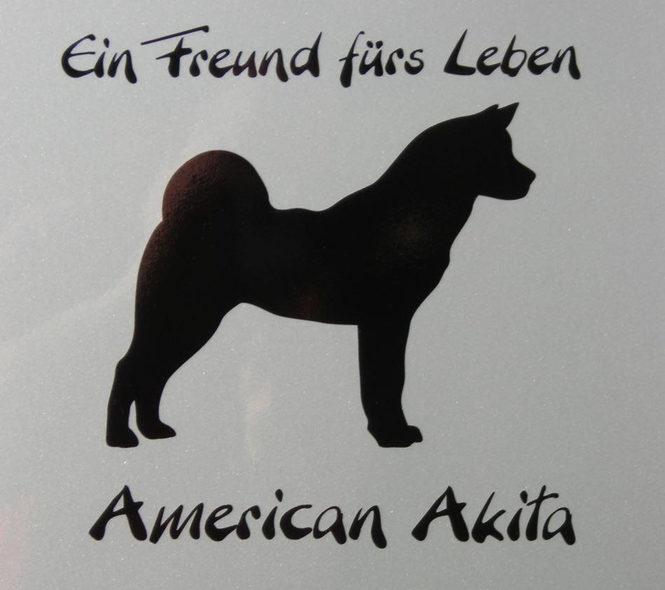 American Akita Hundeaufkleber Akita Inu Anfalas.de