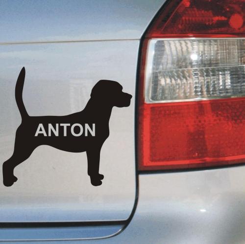 Hundeaufkleber Beagle Anfalas.de