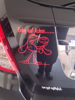 Comic Hund lustig Aufkleber Anfalas.de