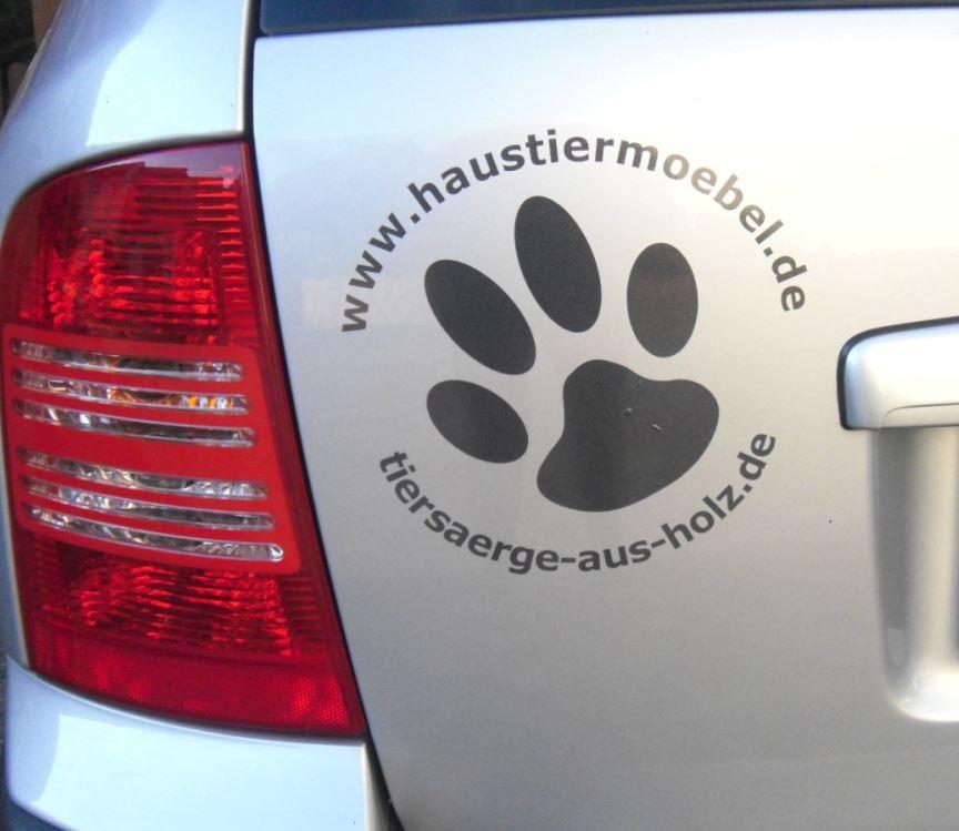 Pfotenaufkleber selbst gestalten Anfalas.de