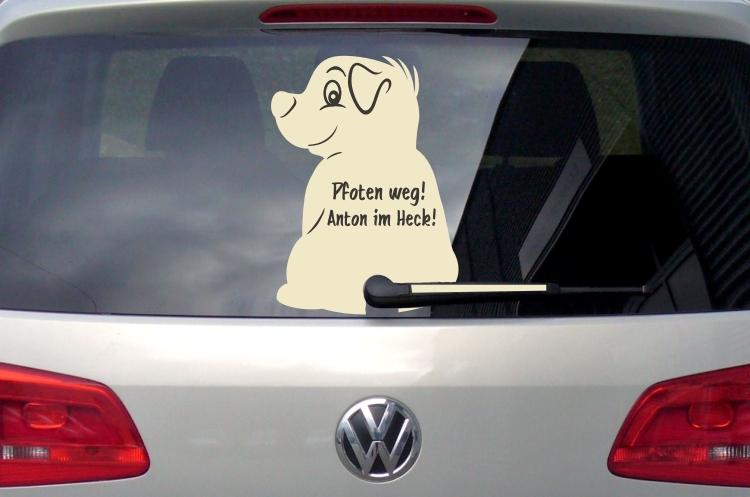 Aufkleber Scheibenwischer Hund