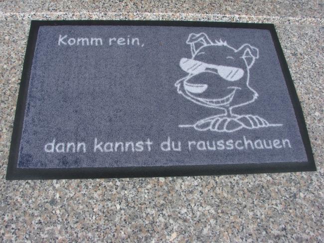 Fussmatte mit Hundemotiv selbst gestalten Anfalas.de