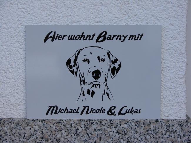 Hundeschild Dalmatiner Anfalas.de