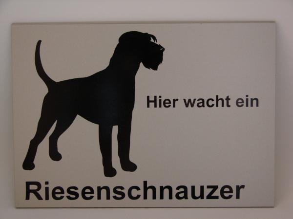 Warnschild Riesenschnauzer Anfalas.de
